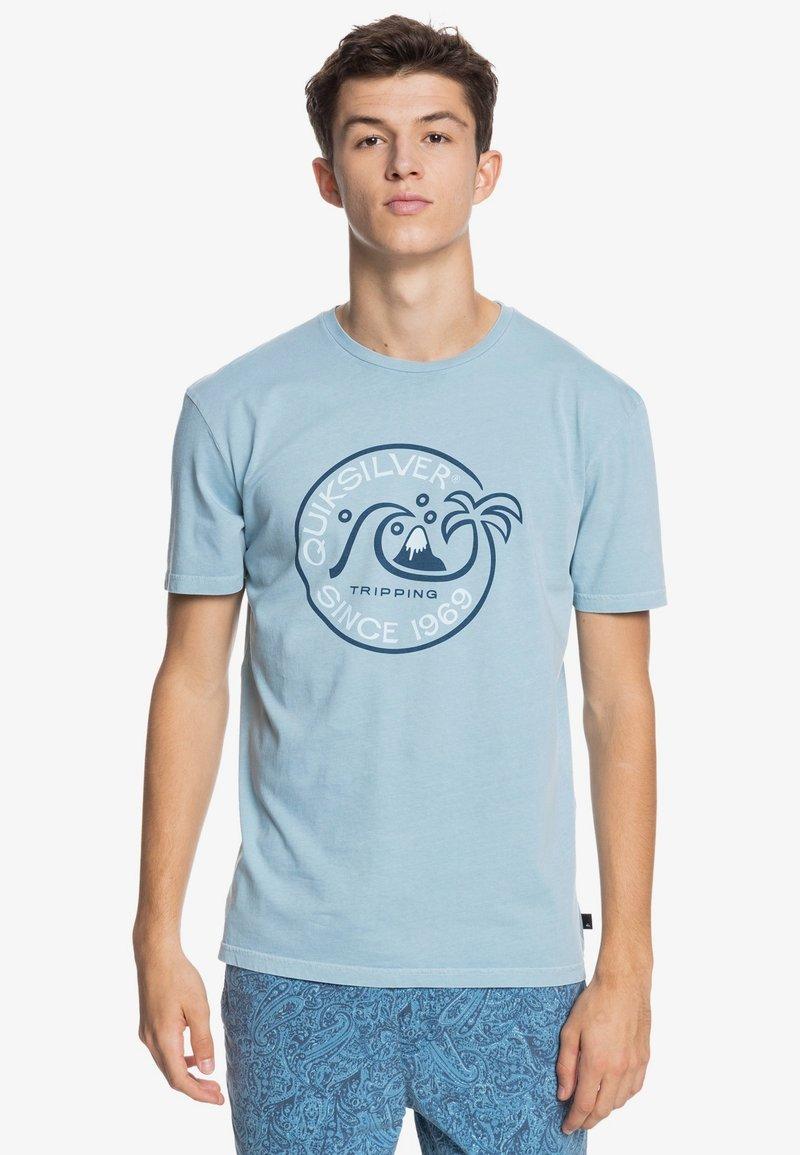 Quiksilver - INTO THE WIDE - Print T-shirt - blue heaven