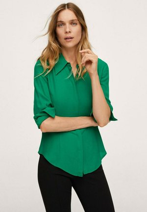 Button-down blouse - zielony