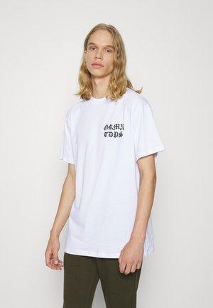 CECILIO TEE - Print T-shirt - white