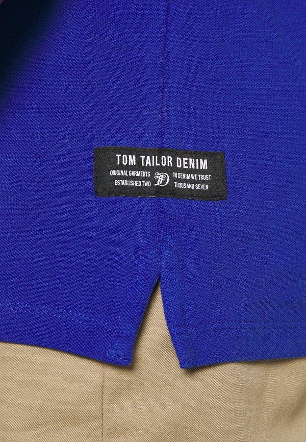 TOM TAILOR DENIM WITH CHEST ARTWORK - Koszulka polo - shiny royal/błękit krÓlewski Odzież Męska RDFL