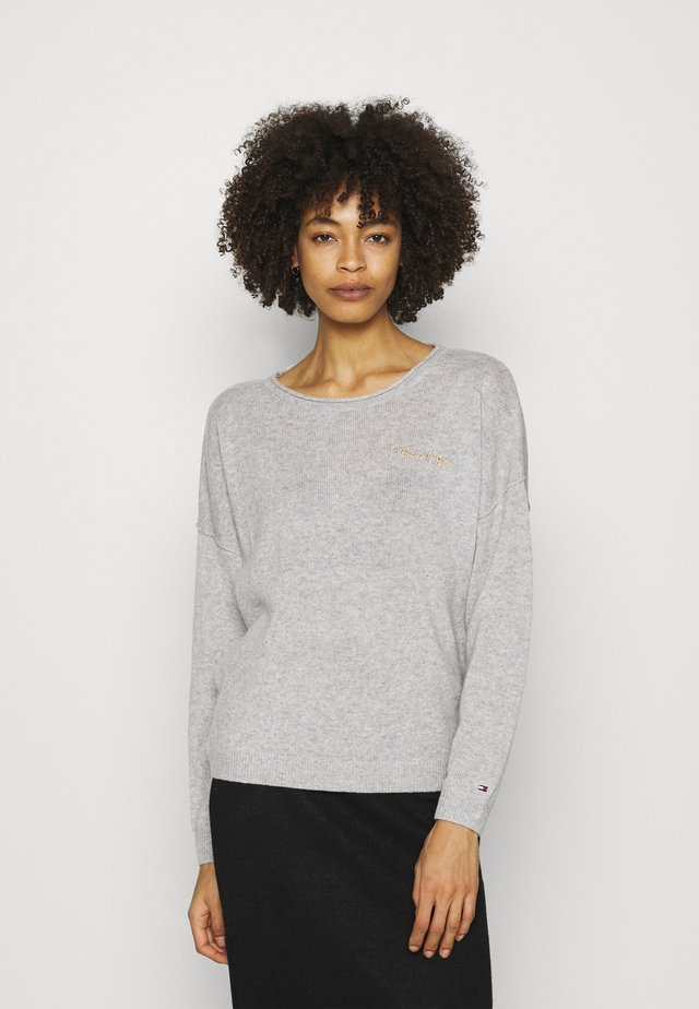 OPEN GRAPHIC - Sweter - light heather grey