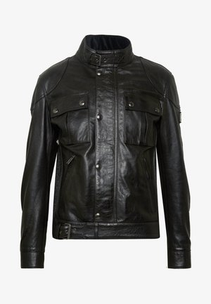 Big & Tall GANGSTER - Lederjacke - black