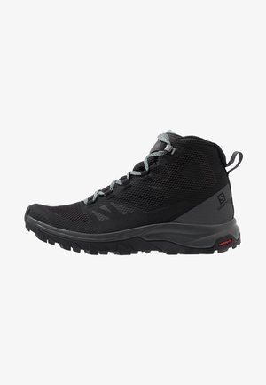 OUTLINE MID GTX - Hikingschuh - black/magnet/green milieu