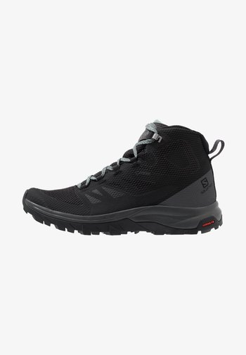 OUTLINE MID GTX - Zapatillas de senderismo - black/magnet/green milieu