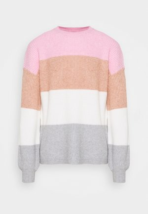 ONLSANDY STRIPE - Jumper - prism pink