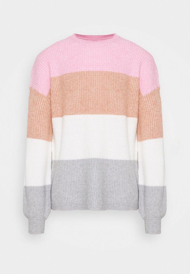 ONLSANDY STRIPE - Jersey de punto - prism pink