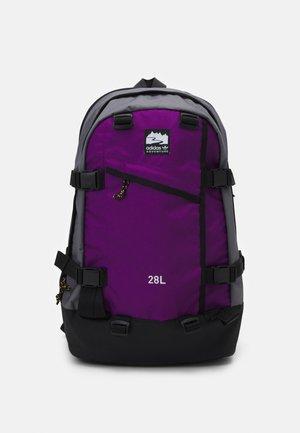 BACKPACK UNISEX - Ryggsäck - black/glory purple/white
