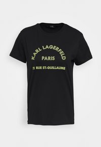 KARL LAGERFELD - ADDRESS LOGO - T-shirt imprimé - black - 4