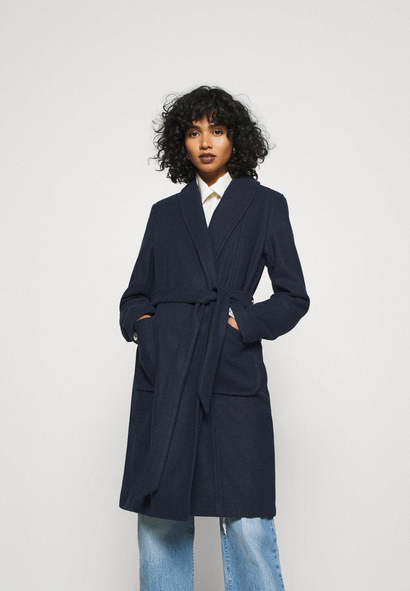Vila - VITULIP COAT - Classic coat - navy blazer