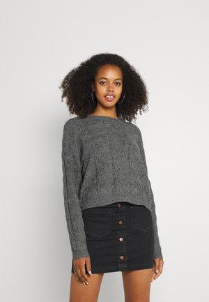 VMSTINNA STRUCTURE - Pullover - medium grey melange