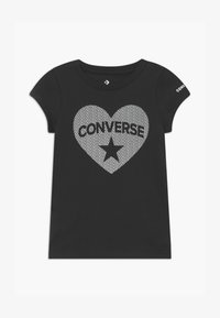 Converse - HEART TEE - T-shirt con stampa - black - 0