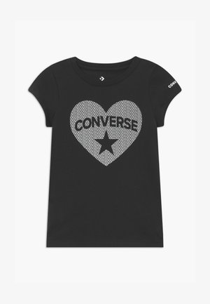 HEART TEE - Camiseta estampada - black