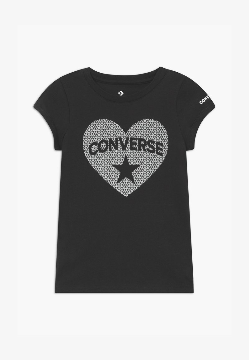 Converse - HEART TEE - T-shirt con stampa - black