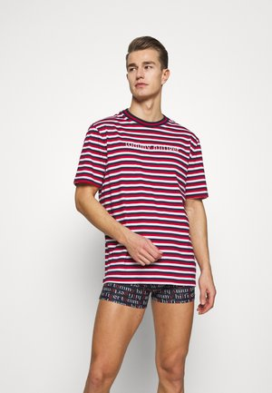 TEE LOGO STRIPE - Pyjama top - red