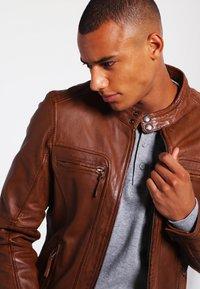 Oakwood - CASEY  - Leather jacket - tobacco - 3