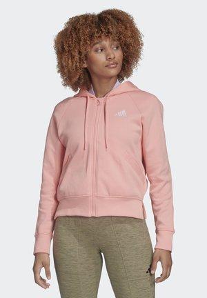 RIBBED HOODIE - Bluza rozpinana - pink