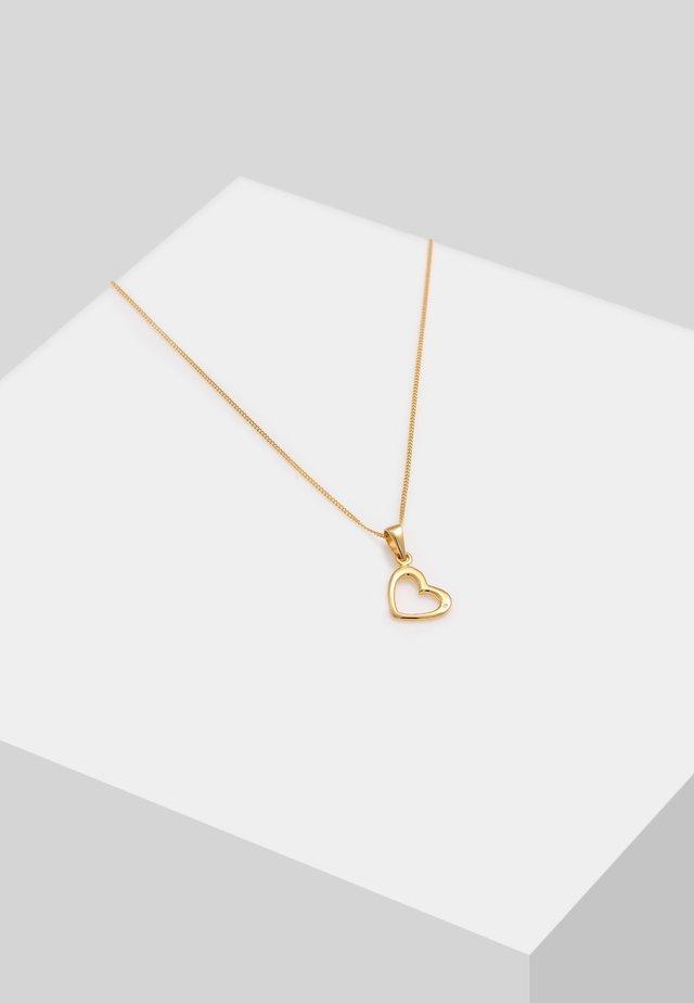 HERZ LIEBE - Necklace - gold-colured