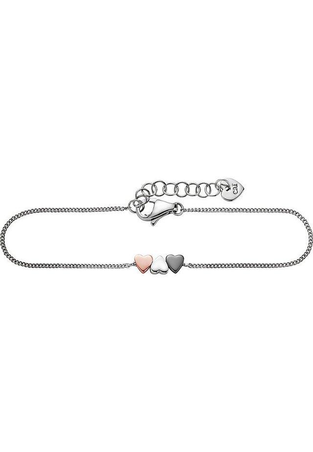 CAÏ DAMEN-ARMBAND LOVE 925ER SILBER - Bracelet - tricolor-coloured