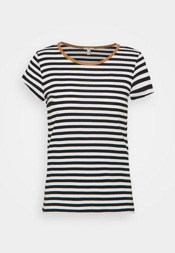 CAP SLEEVE - T-shirts med print - black