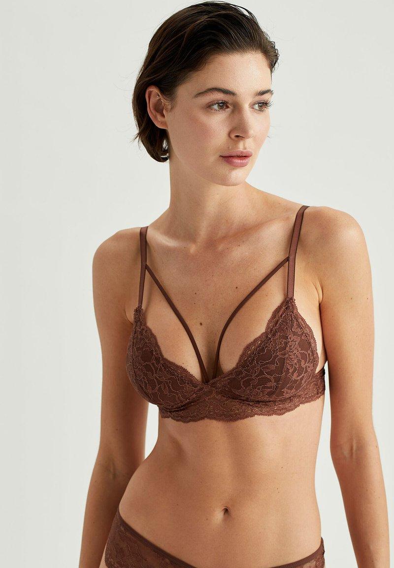 DeFacto Fit - BRALETTE - Triangle bra - brown
