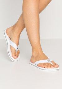 Tommy Hilfiger - GLITTER FLAT BEACH  - T-bar sandals - white - 0