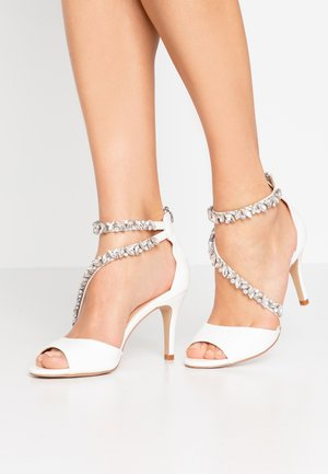 SAMIRA - High heeled sandals - white