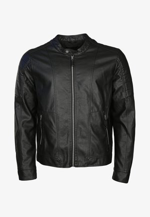 DOMINGO - Faux leather jacket - black