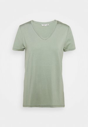 REXIMA V NECK - T-shirt z nadrukiem - iceberg green