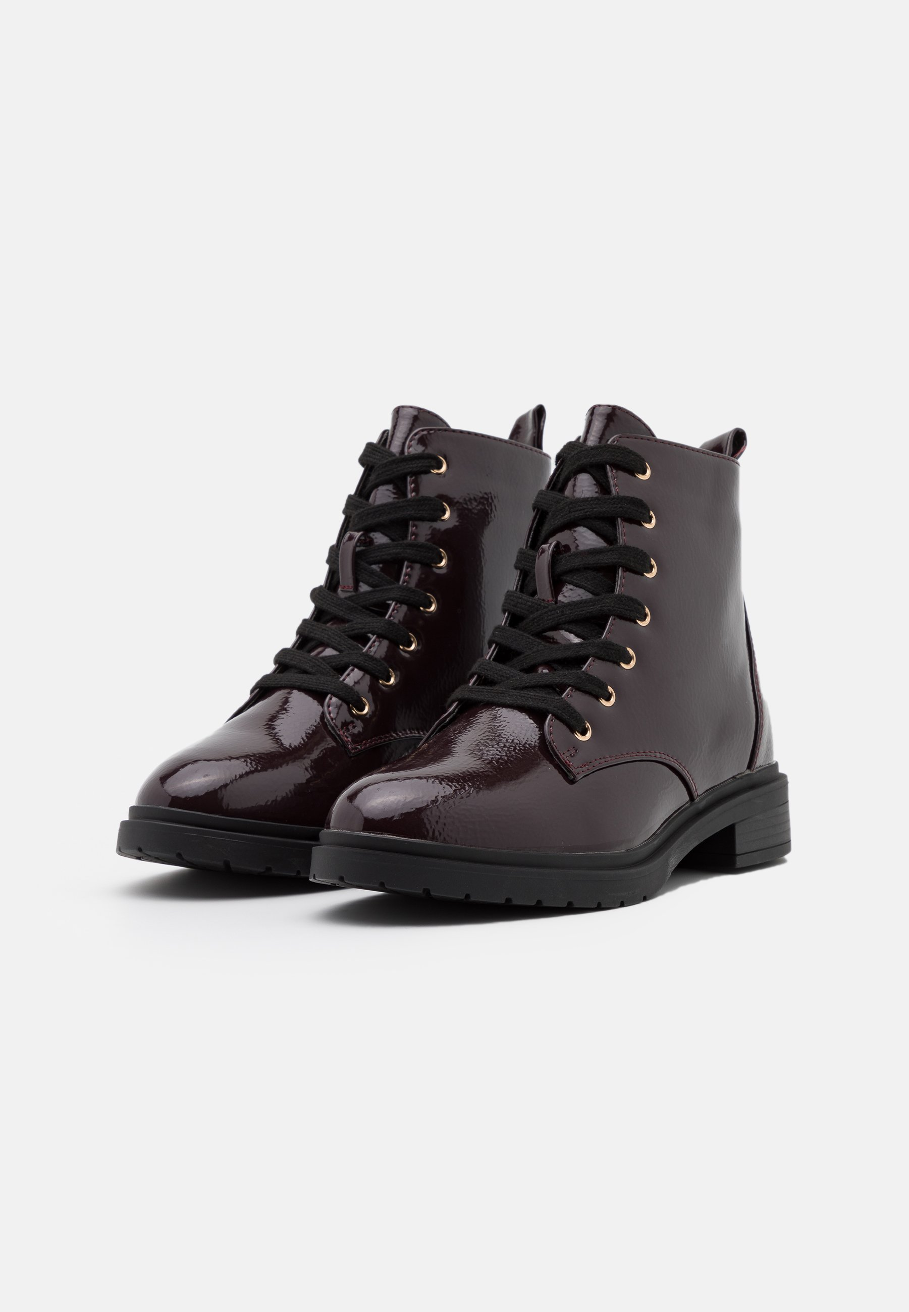 New Look Wide Fit WIDE FIT DIGGER LACE UP Schnürstiefelette dark red/bordeaux