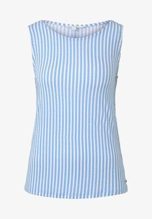 TOM TAILOR DENIM T-SHIRT GEMUSTERTES TOP AUS JERSEY - Débardeur - blue white vertical stripe