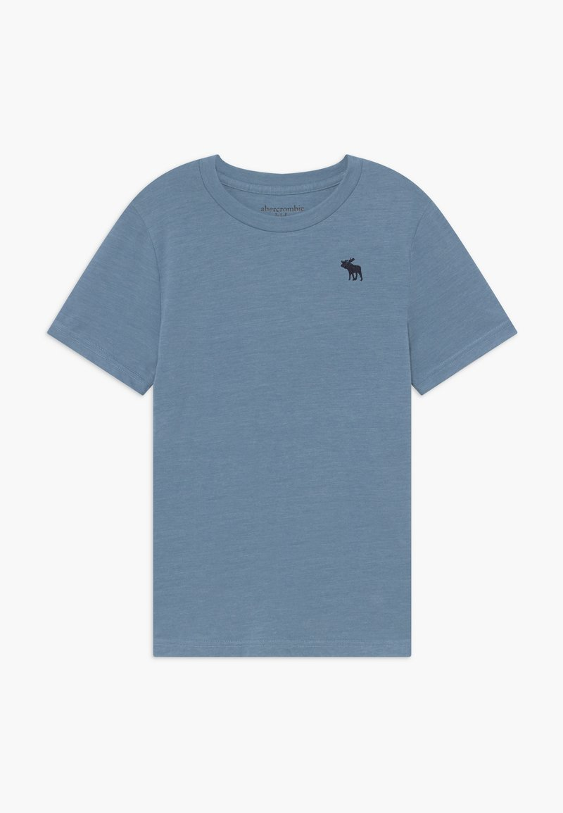Abercrombie & Fitch - BASIC SOLID TEE - Jednoduché triko - texural blue shadow