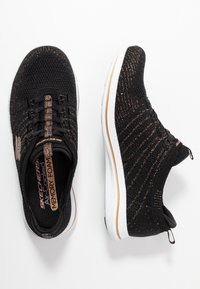 Skechers - CITY PRO - Zapatillas - black/rose gold/white - 3