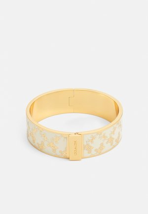 HORSE AND CARRIAGE HINGED BANGLE - Rannekoru - gold-coloured/chalk