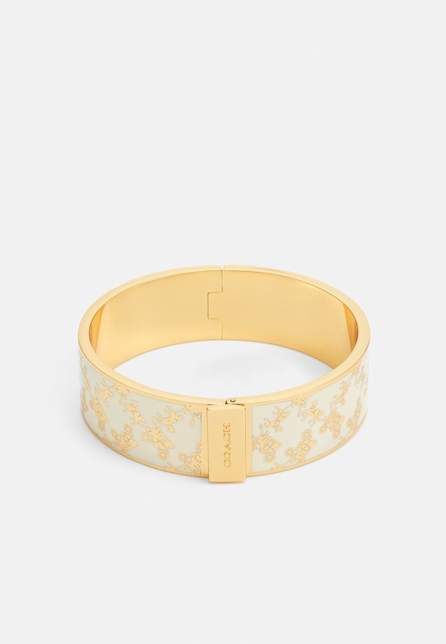 HORSE AND CARRIAGE HINGED BANGLE - Bracciale - gold-coloured/chalk