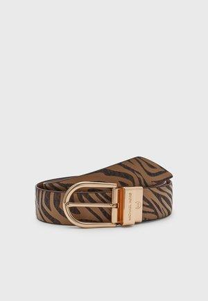 REVERSIBLE BELT - Belt - brown/gold-coloured