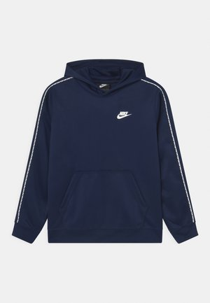 REPEAT HOODIE - Mikina s kapucí - midnight navy/white