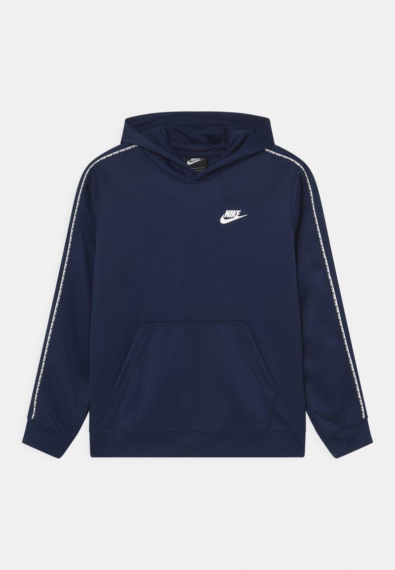 Nike Sportswear - REPEAT HOODIE - Huppari - midnight navy/white