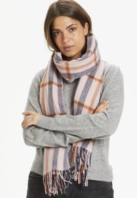 Part Two - ECITANAPW - Scarf - big check, silver pink - 0