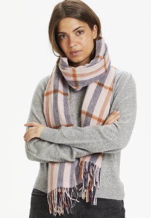 ECITANAPW - Scarf - big check, silver pink