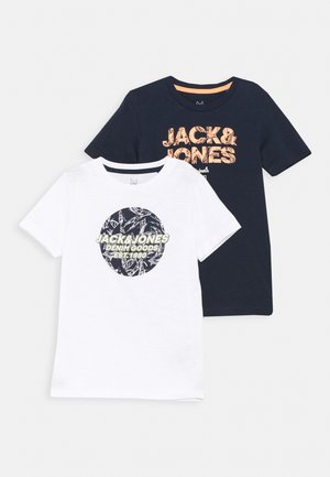 JORLEFO PLACE TEE CREW NECK 2 PACK  - Camiseta estampada - navy blazer
