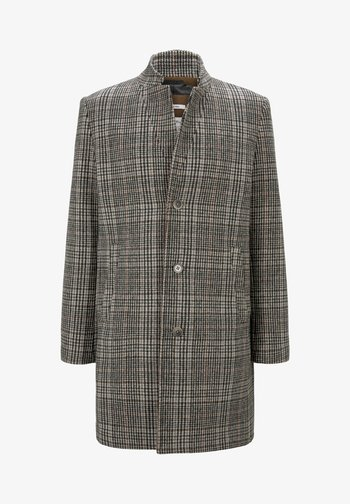 Classic coat - beige rust check