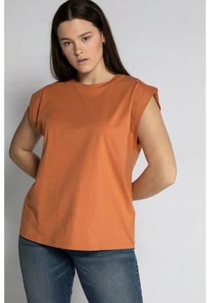 Overhemdblouse - matt-orange