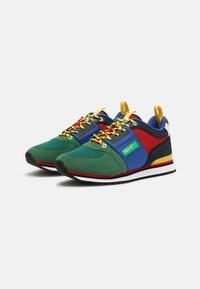 Benetton - POWER - Sneakers laag - green/red - 1