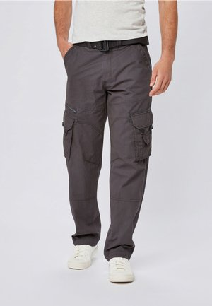 TECH - Pantaloni cargo - grey