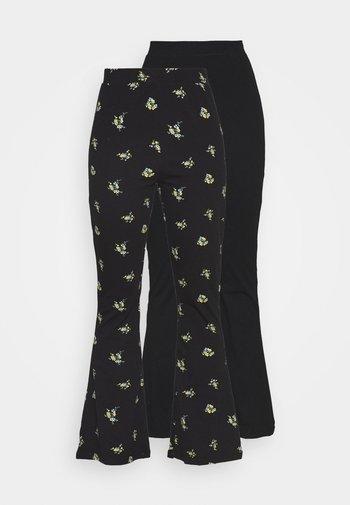 FLARED TROUSERS 2 PACK - Pantaloni - black/multi coloured