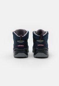 Lowa - ZIRROX GTX MID JUNIOR UNISEX - Hiking shoes - navy/rosé - 2