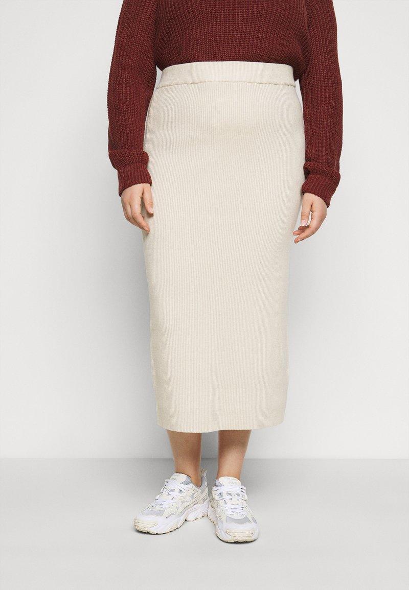 Glamorous Curve - MIDI SKIRT - Pencil skirt - stone