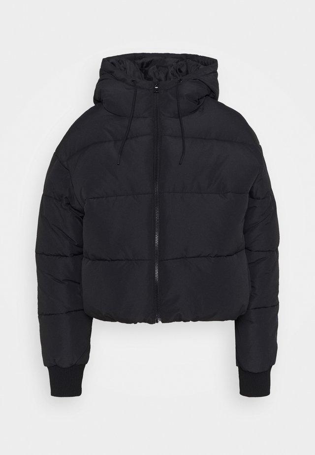 AMBER SHORT - Winter jacket - black dark