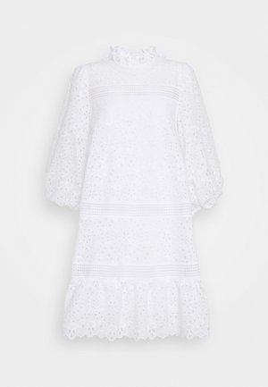DRESS PUFFY SLEEVES MINI - Day dress - snow white