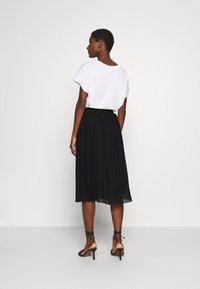 Anna Field - Plisse mesh mini skirt - Áčková sukně - black - 2
